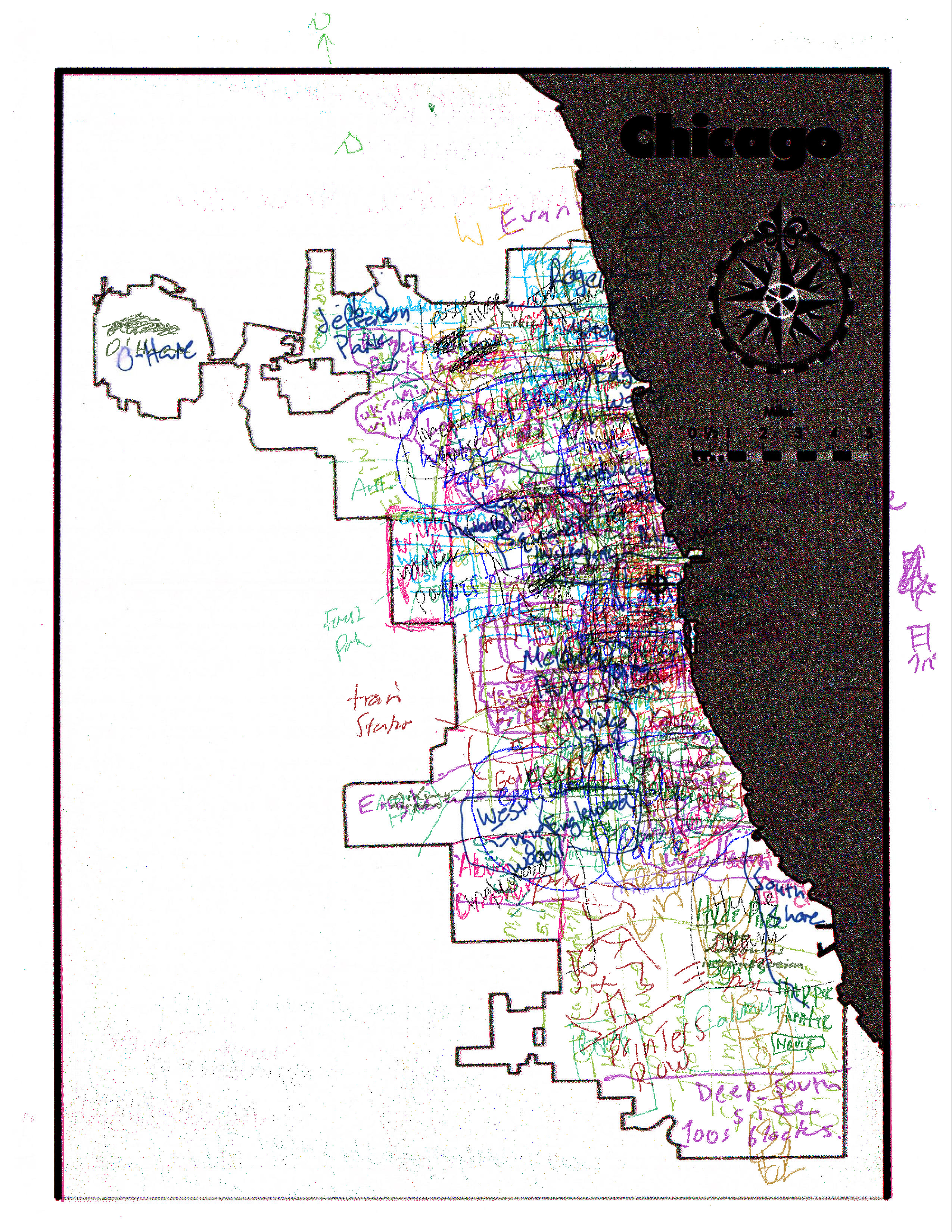 Chicagoans Map Chicago Story Luck - Kenwood chicago map