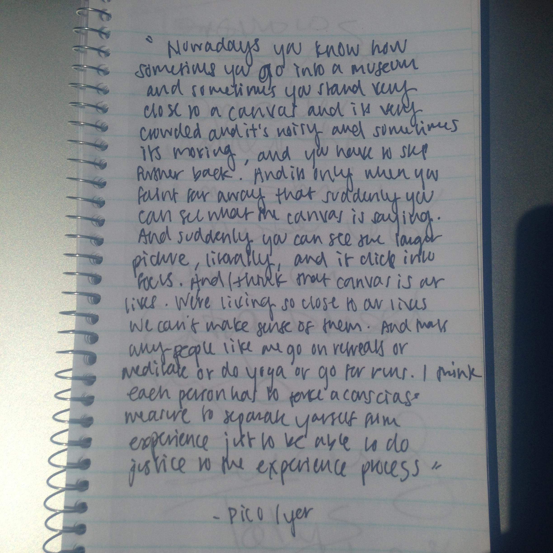 Pico's Letter to a stranger